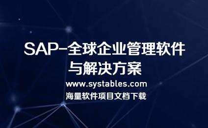 软件开发与设计 - SAP-全球企业管理软件与解决方案数据库表结构设计文档